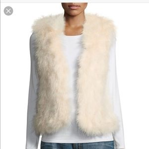 Club Monaco Violet Feather Vest in Ivory